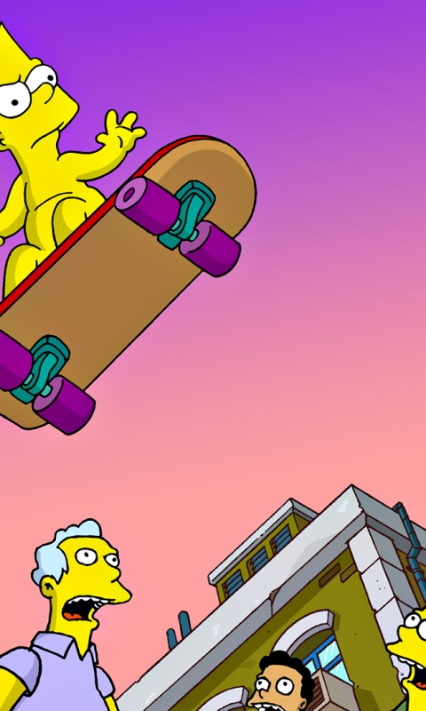 480x800 Simpsons,  cartoons
