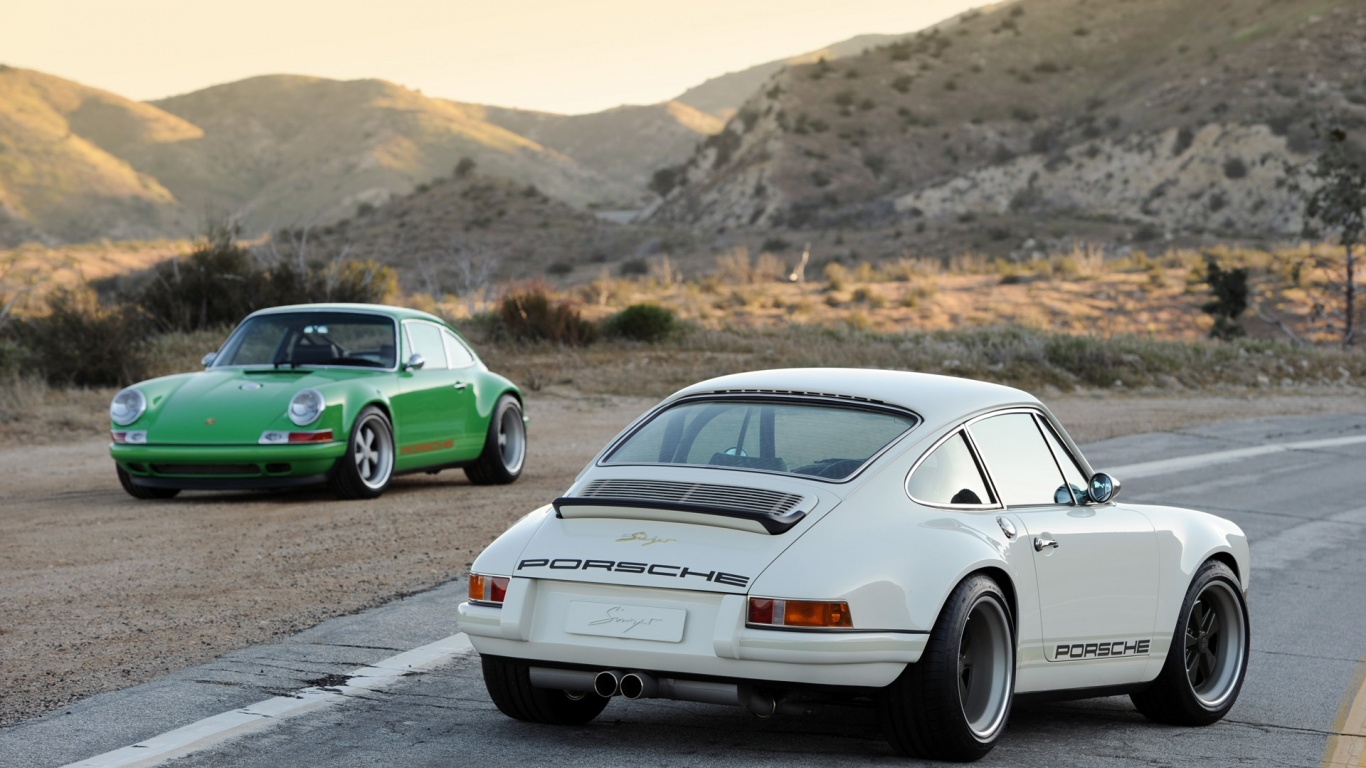 1366x768 singer porsche 911 white duo desktop pc and mac