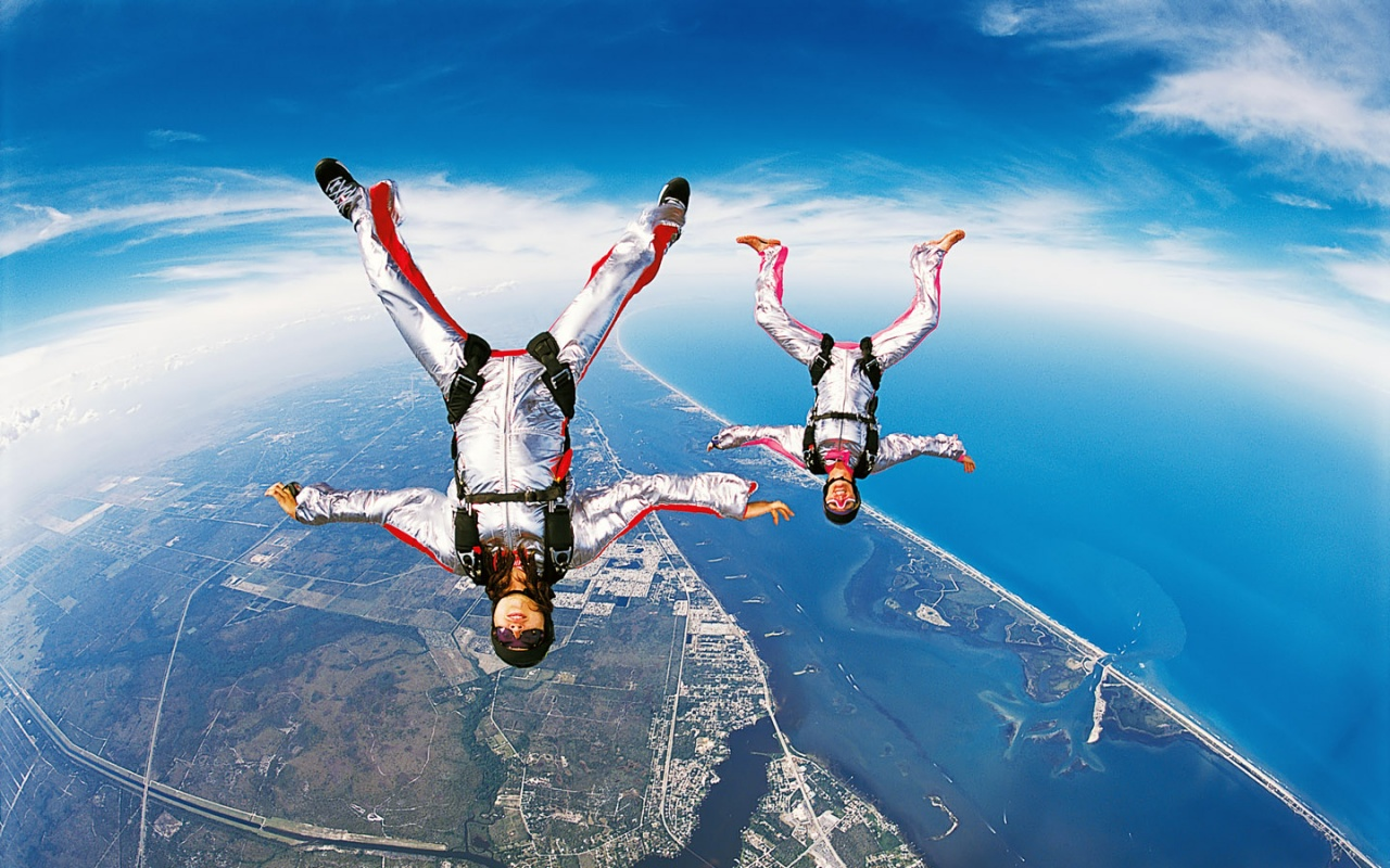 1280x800 Sky diving desktop