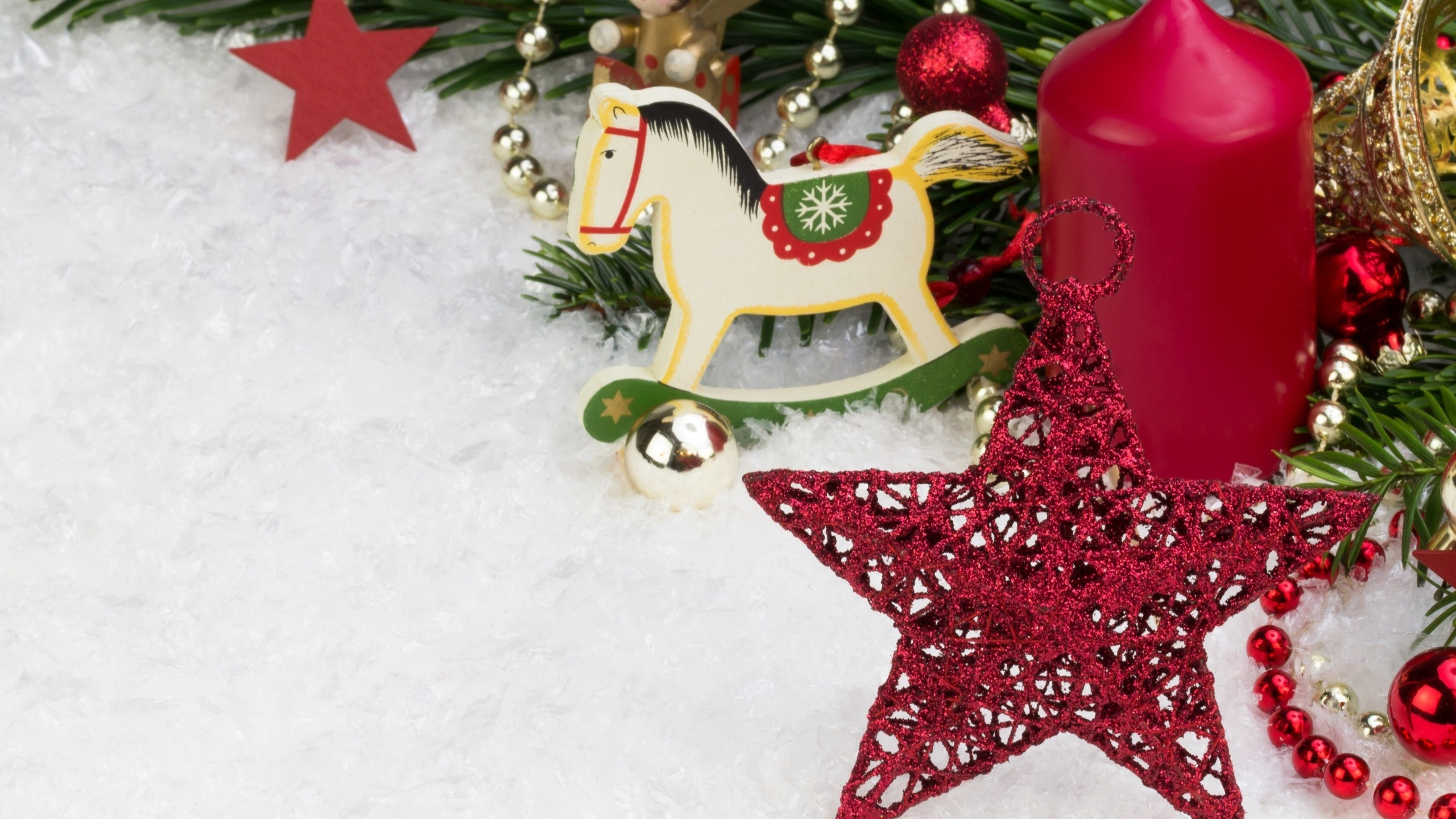 2560x1440 Small Christmas Ornaments YouTube Channel Cover