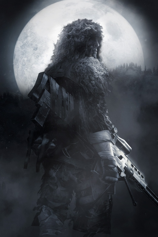 640x960 Sniper Ghostwarrior Iphone 4 Wallpaper