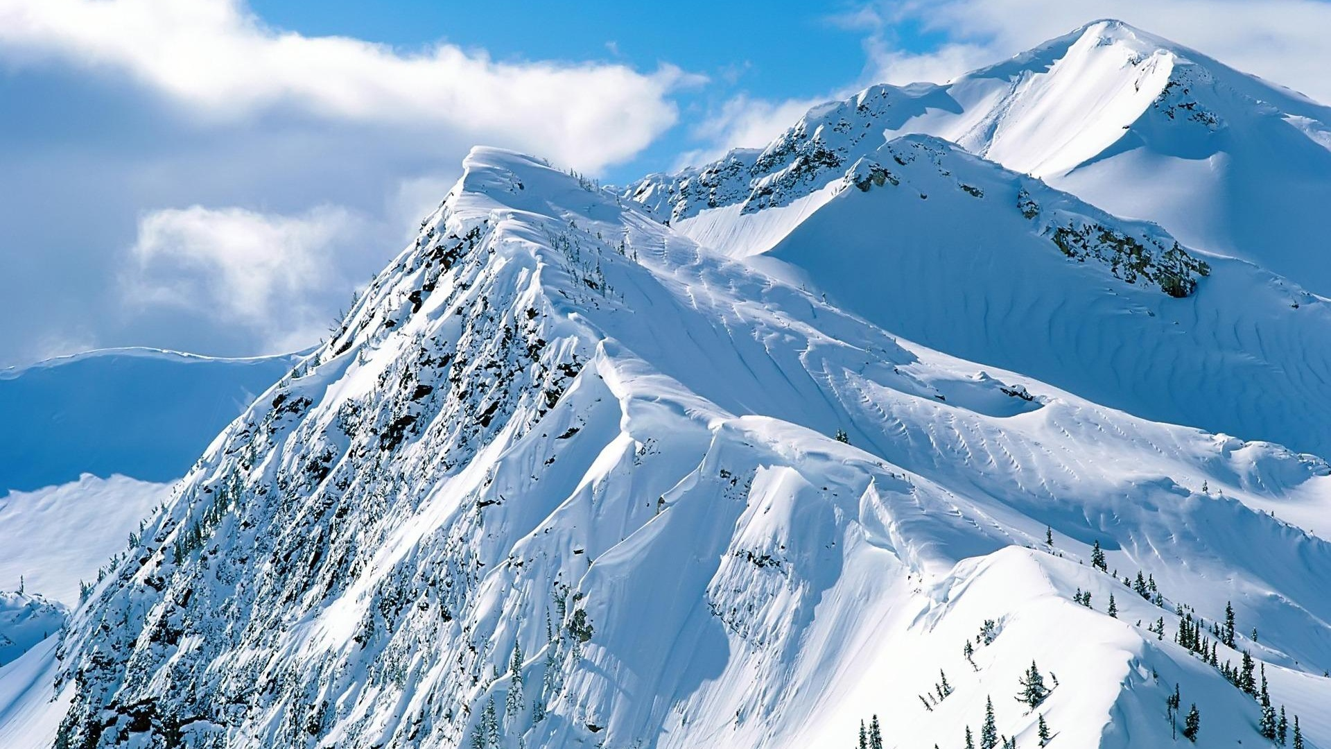 1920x1080 Snow Mountain Desktop PC And Mac Wallpaper