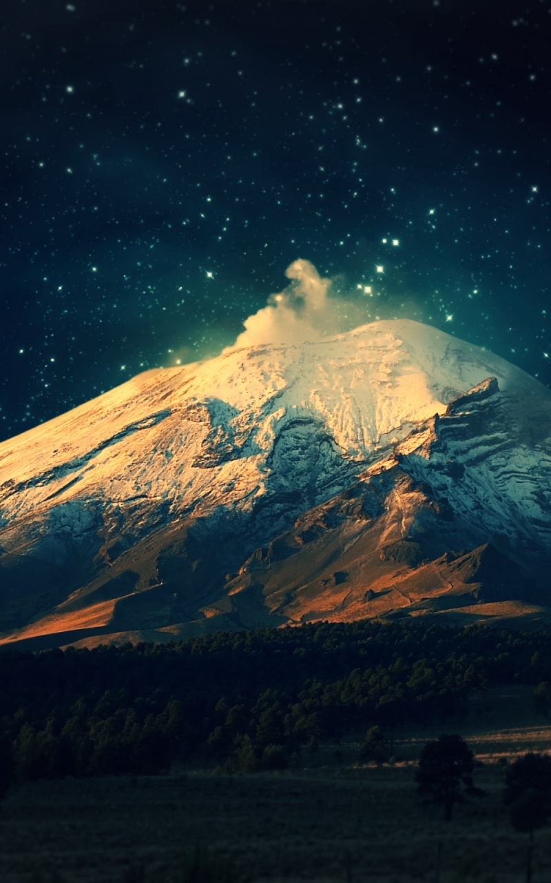 Popular Wallpaper Mountain Note 5 - snowy-mountain-starry-sky_wallpapers_34676_800x1280  Perfect Image Reference_259116.jpg