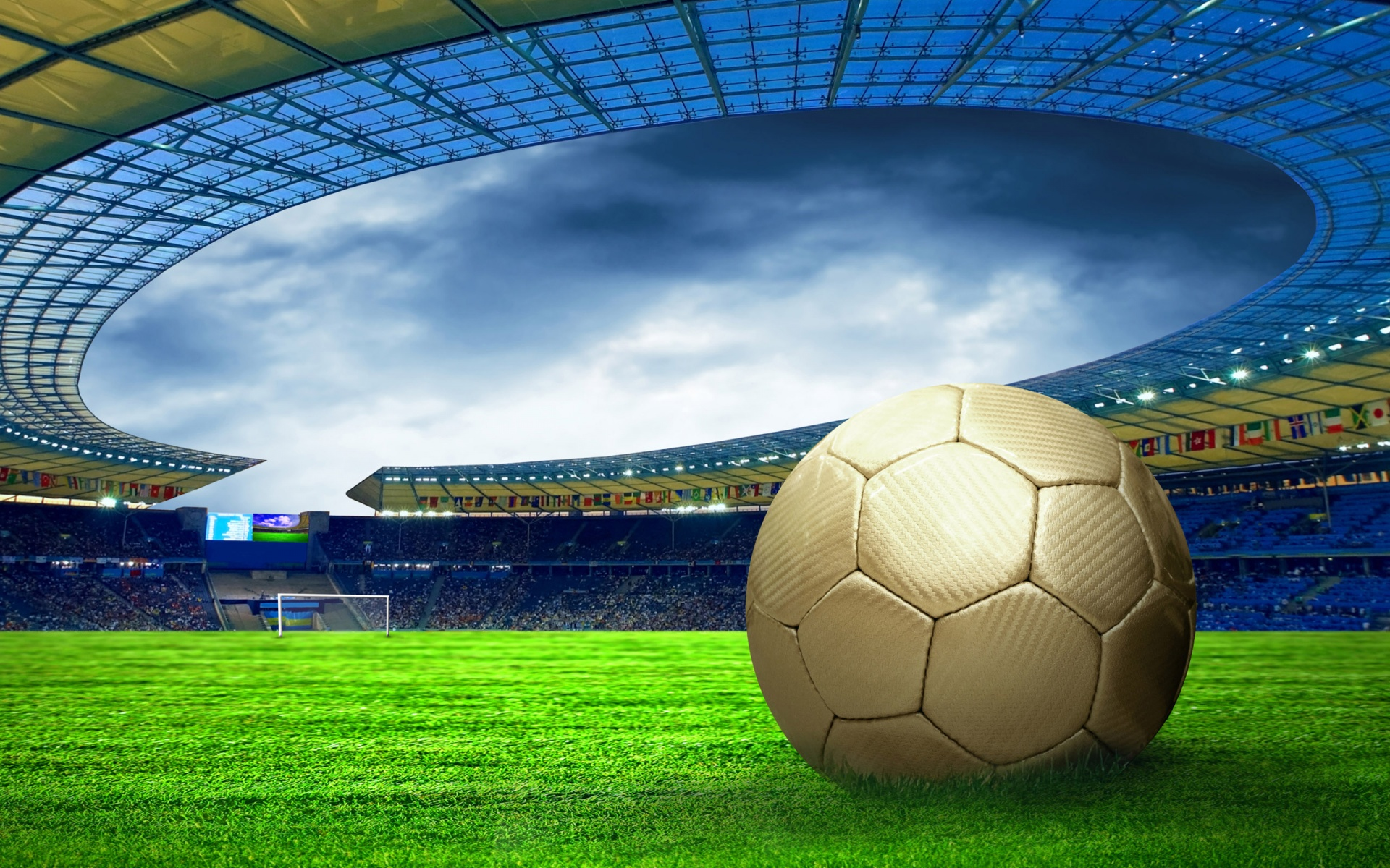 Soccer ball on the field wallpapers   Soccer ball on the field stock photos