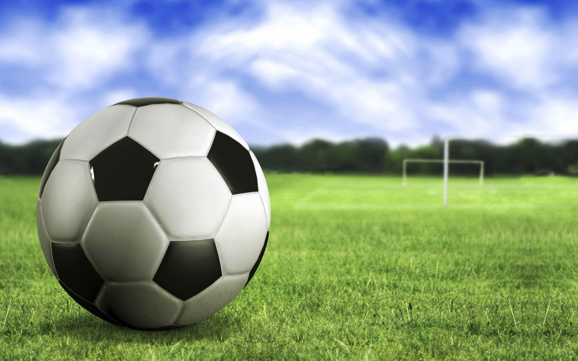 1920x1200 soccer ball on the grass desktop pc and mac
