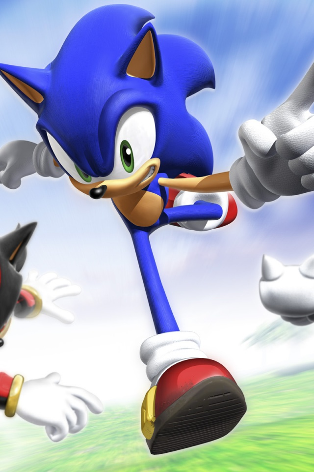 640x960 sonic rivals iphone 4 wallpaper