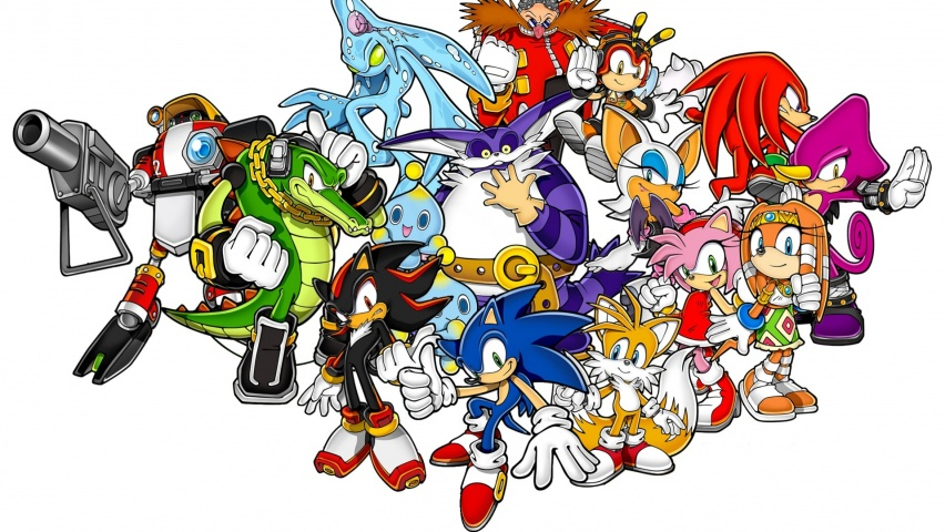 825x315 Sonic The Hedgehog And Friends Facebook Cover Photo