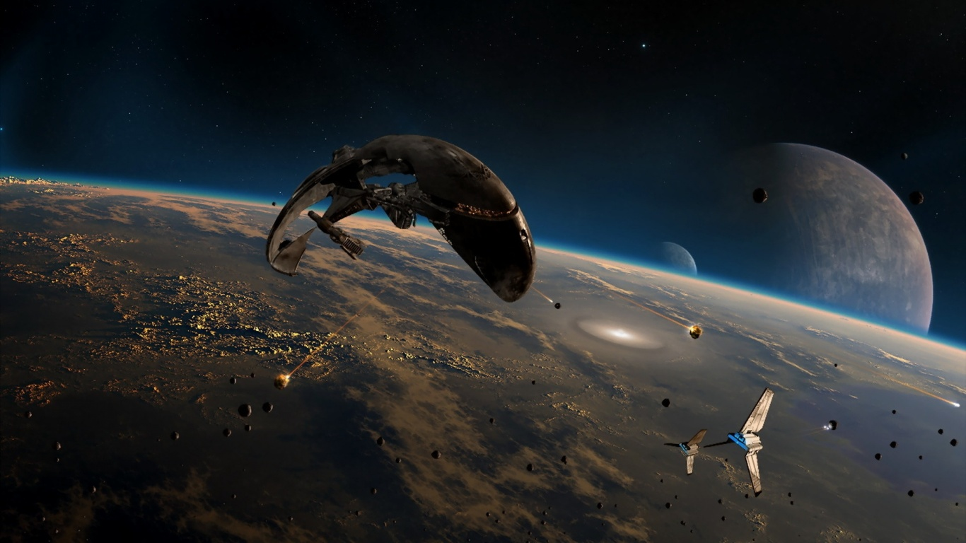 1366x768 Space Activity desktop PC and Mac wallpaper