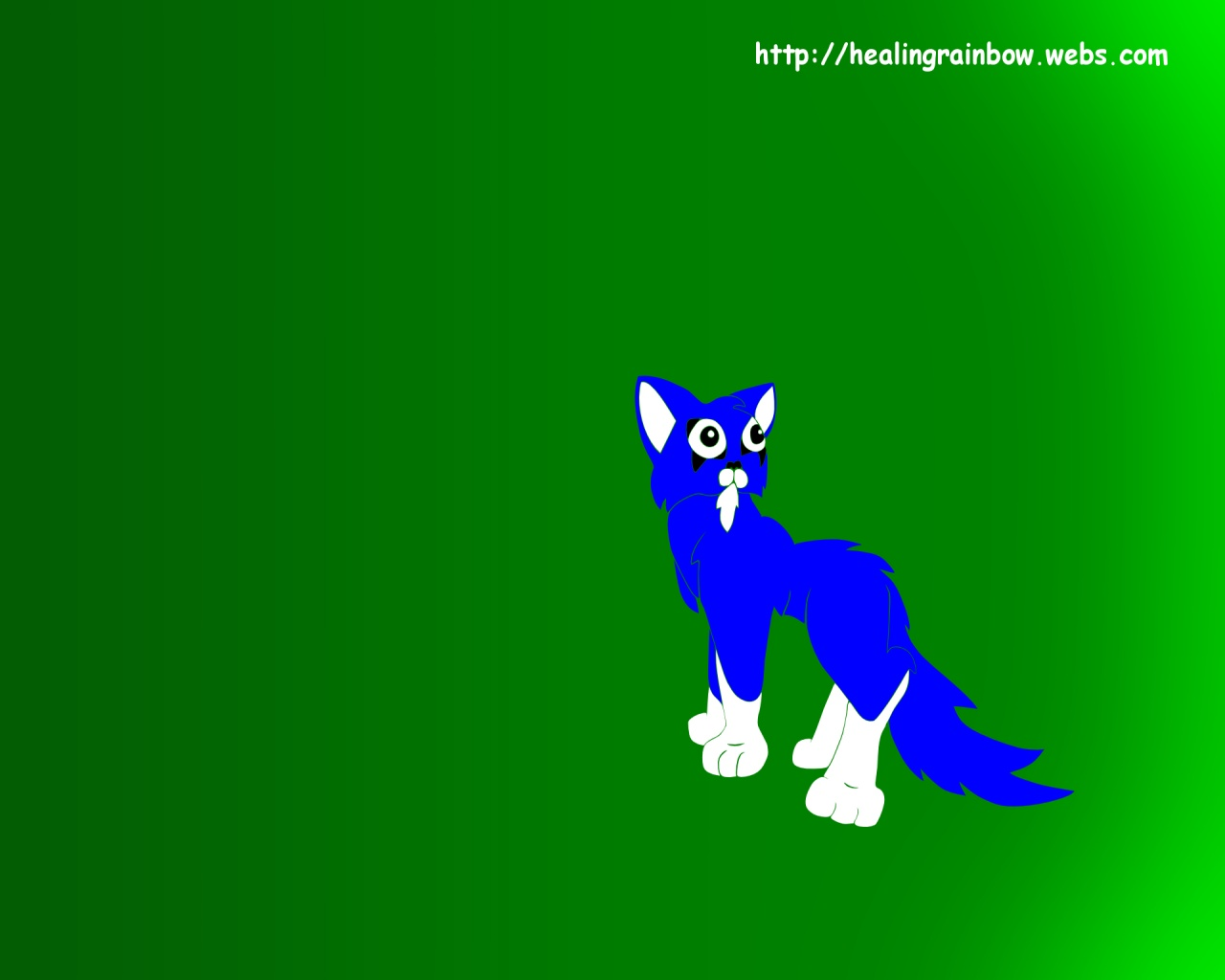 1280x1024 Spiked Cat (green)