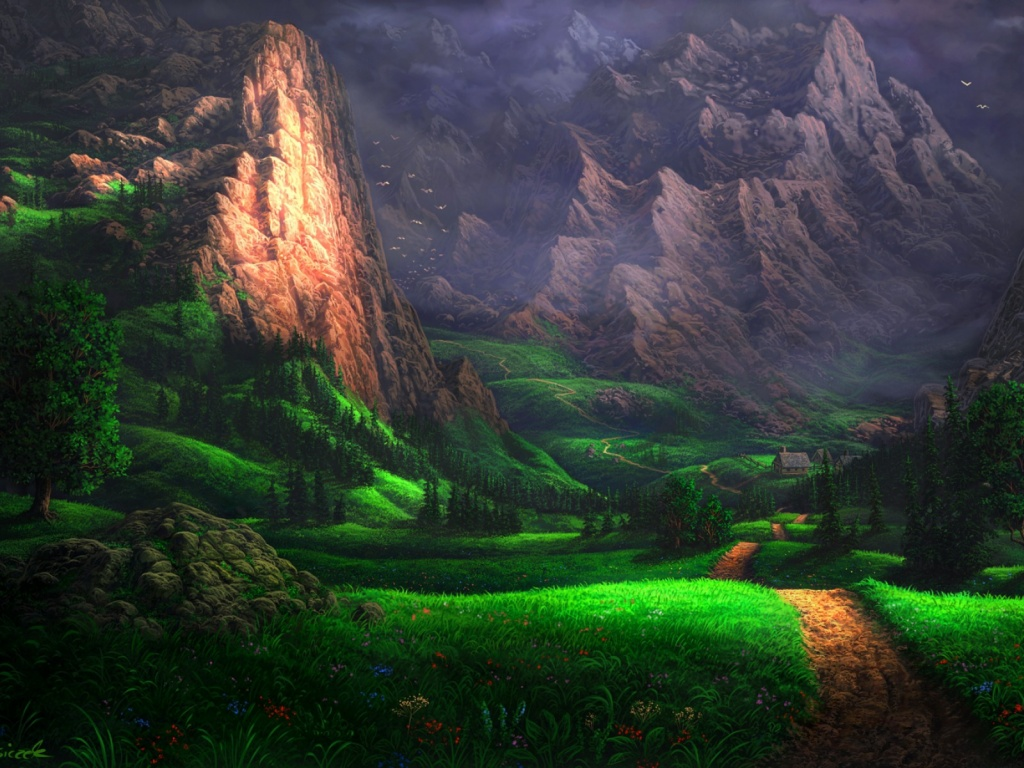 920x520 Splendid Green Valley