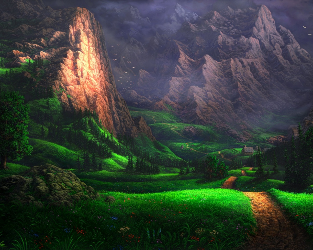 1280x1024 Splendid Green Valley