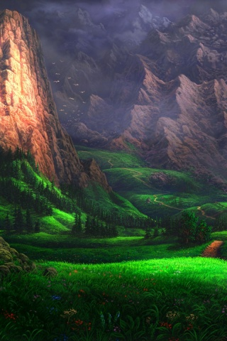 320x480 Splendid Green Valley