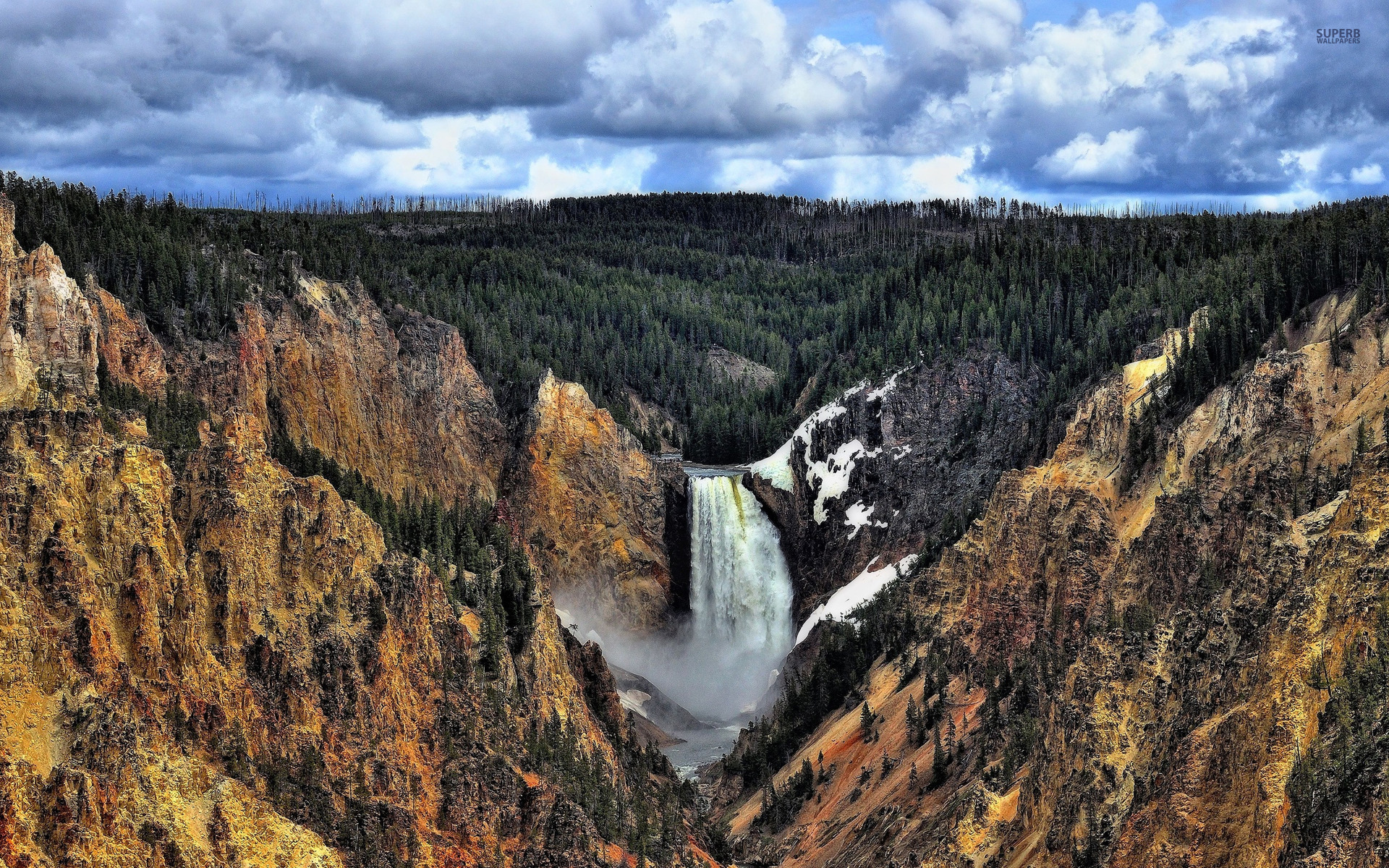 1920x1200 Splendid Lower Falls Wyoming
