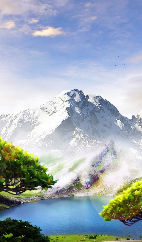 600x1024 spring landscape amazing beautiful galaxy tab 2 for Amazing wallpaper for tab