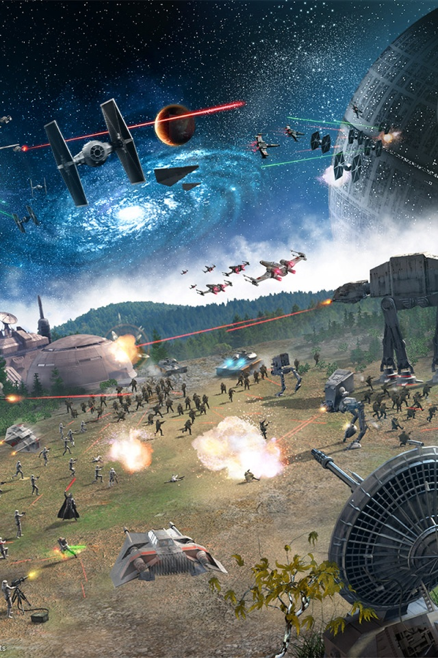 640x960 Star Wars Empire At War Iphone 4 Wallpaper