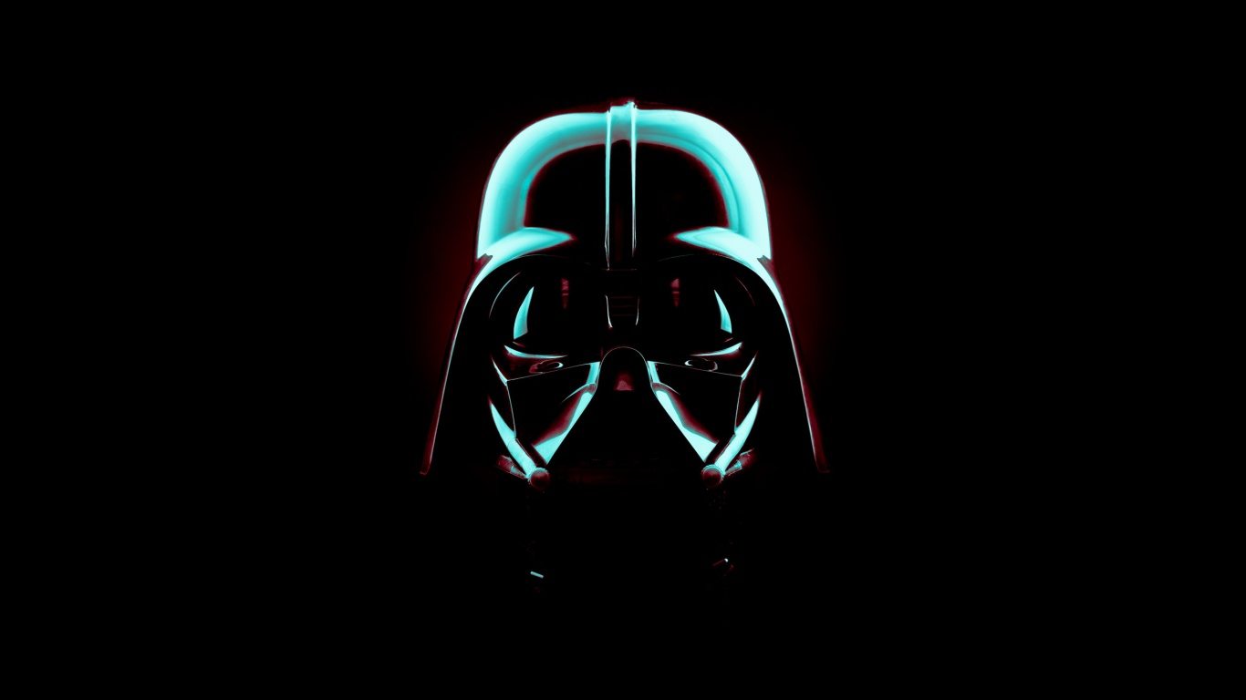 1366x768 star wars darth vader mask desktop pc and mac wallpaper