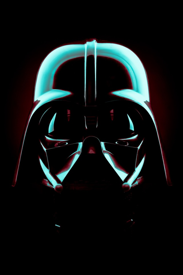 640x960 Star Wars Darth Vader Mask Iphone 4 Wallpaper
