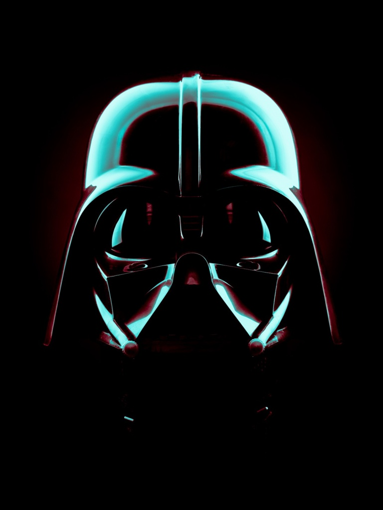 768x1024 star wars darth vader mask ipad mini wallpaper