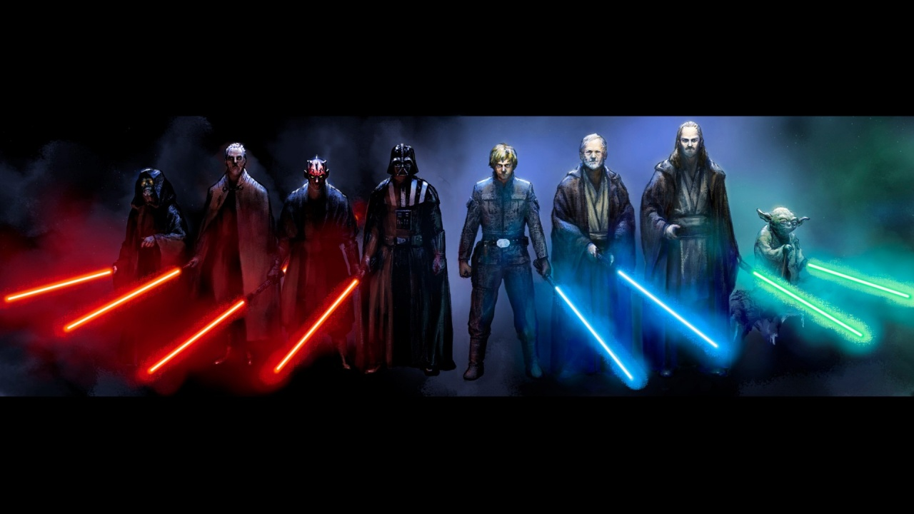 1280x720 star wars sith and jedi desktop pc and mac wallpaper