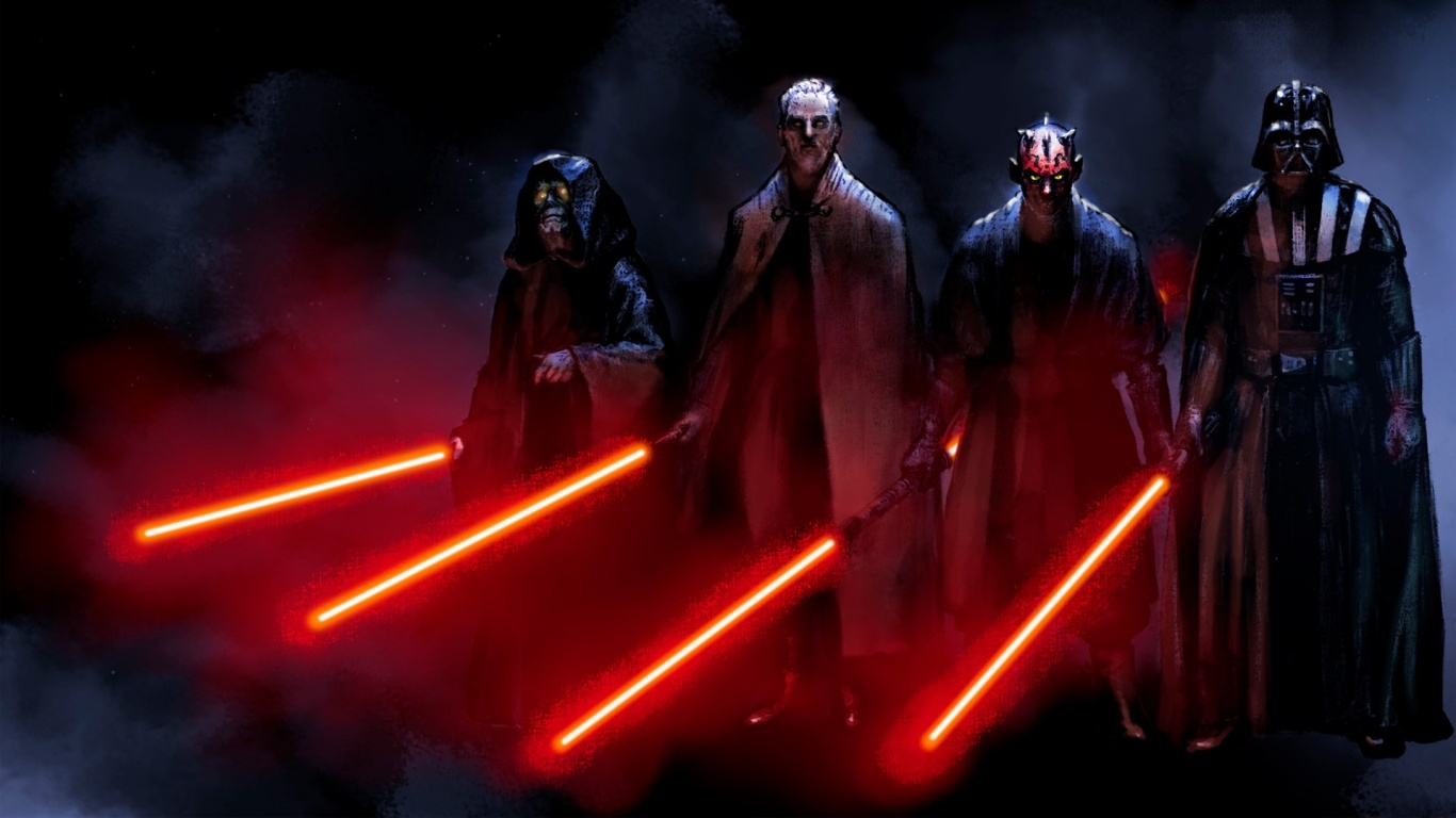 1366x768 star wars sith desktop pc and mac wallpaper
