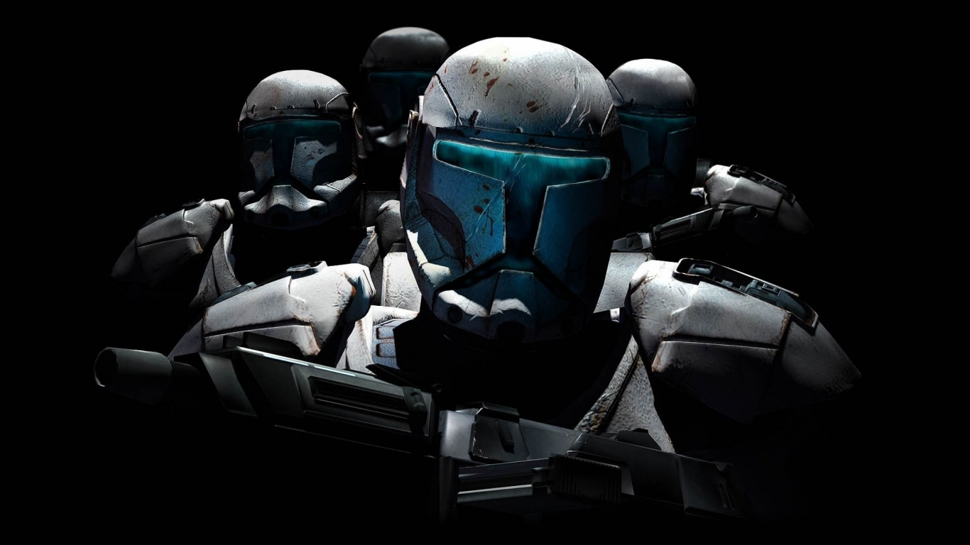 1366x768 star wars: republic commando desktop pc and mac wallpaper