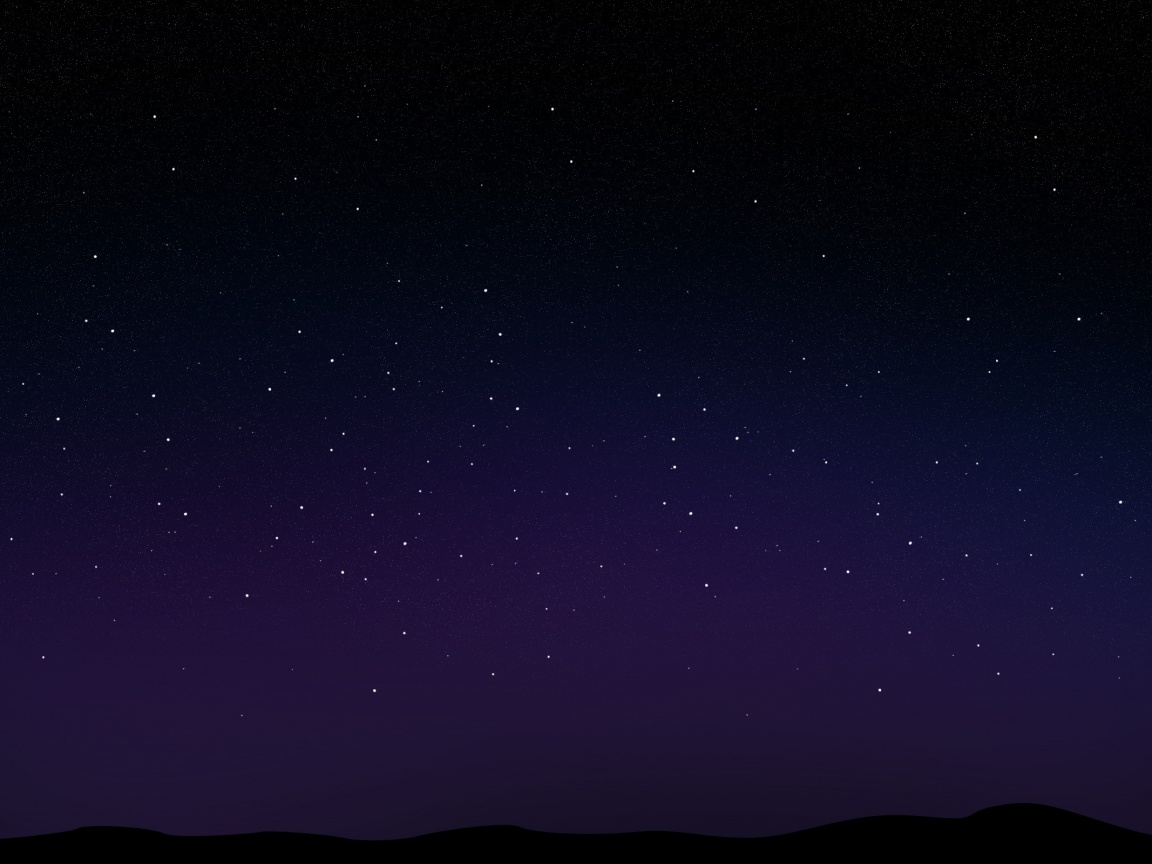 1152x864 Starry Night Sky desktop PC and Mac wallpaper