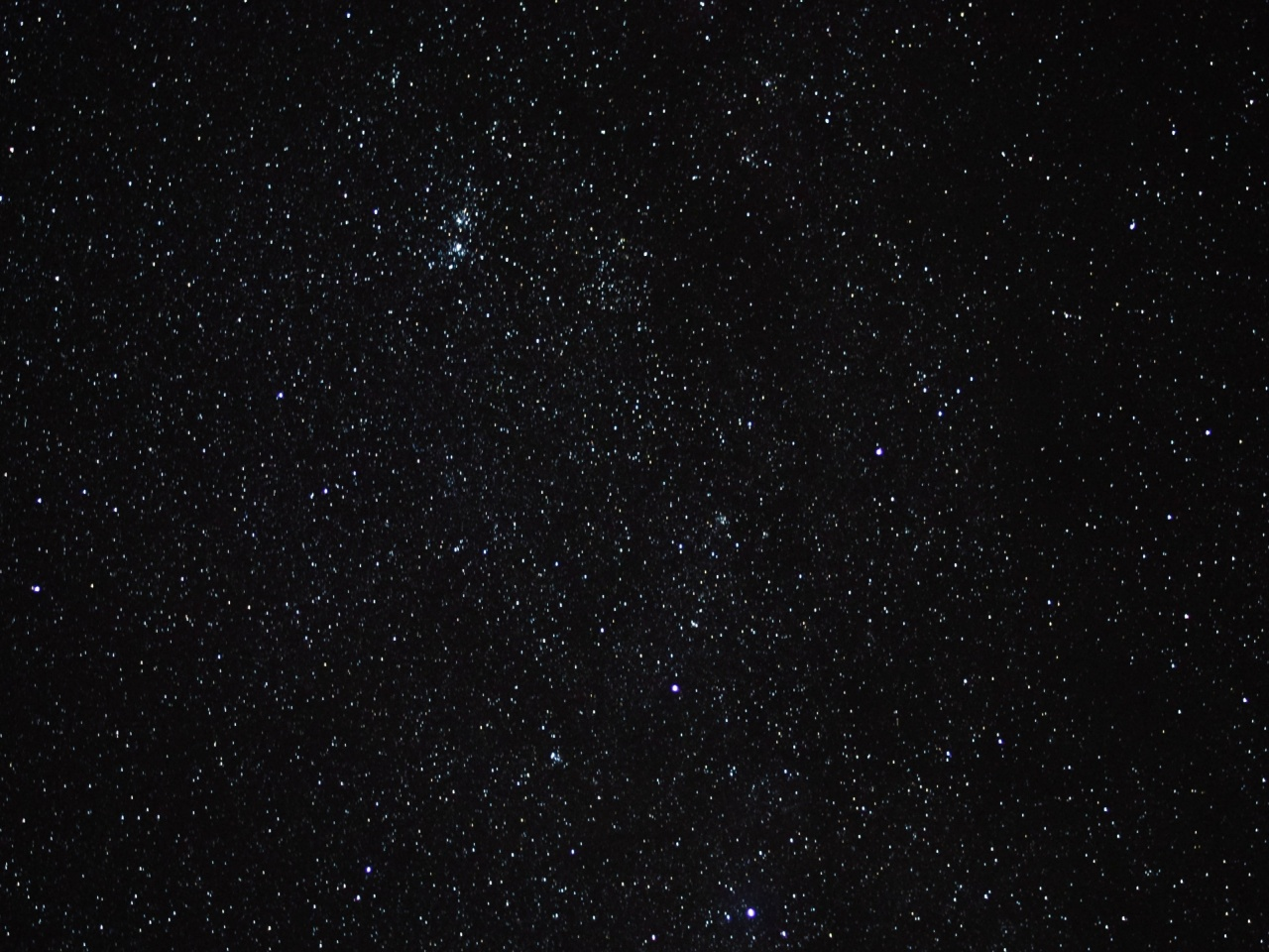 1280x720 starry sky, stars, space, nigh