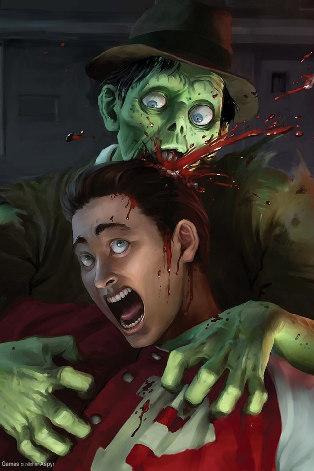 iphone wallpaper zombie green poison
