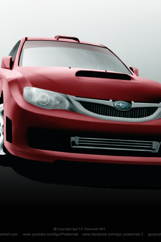 640x960 Subaru Wrx Sti Iphone 4 Wallpaper