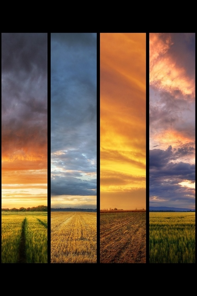 640x960 Sunset Collage Iphone 4 Wallpaper