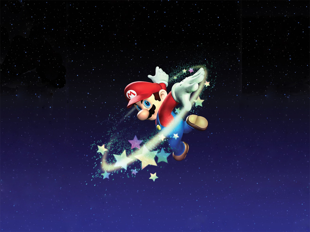 1024 Super Mario galaxy desktop wallpapers and stock photos