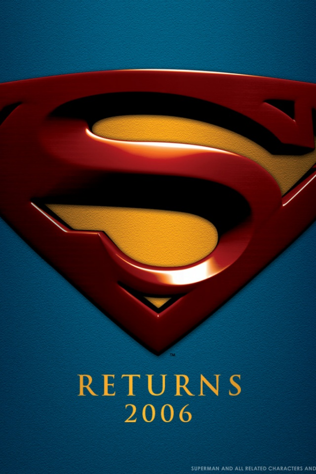 640x960 superman symbol iphone 4 wallpaper