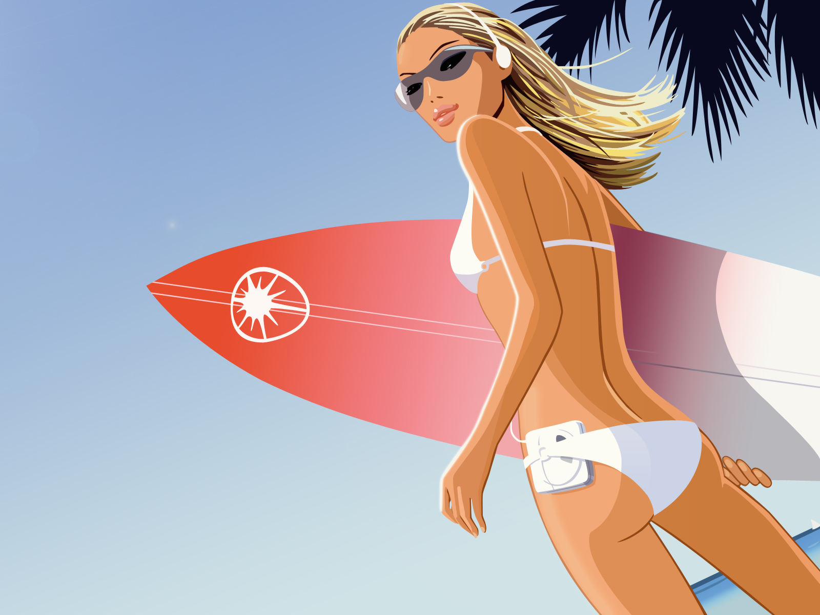 1600x1200 Surf chick desktop wallpapers and stock photos