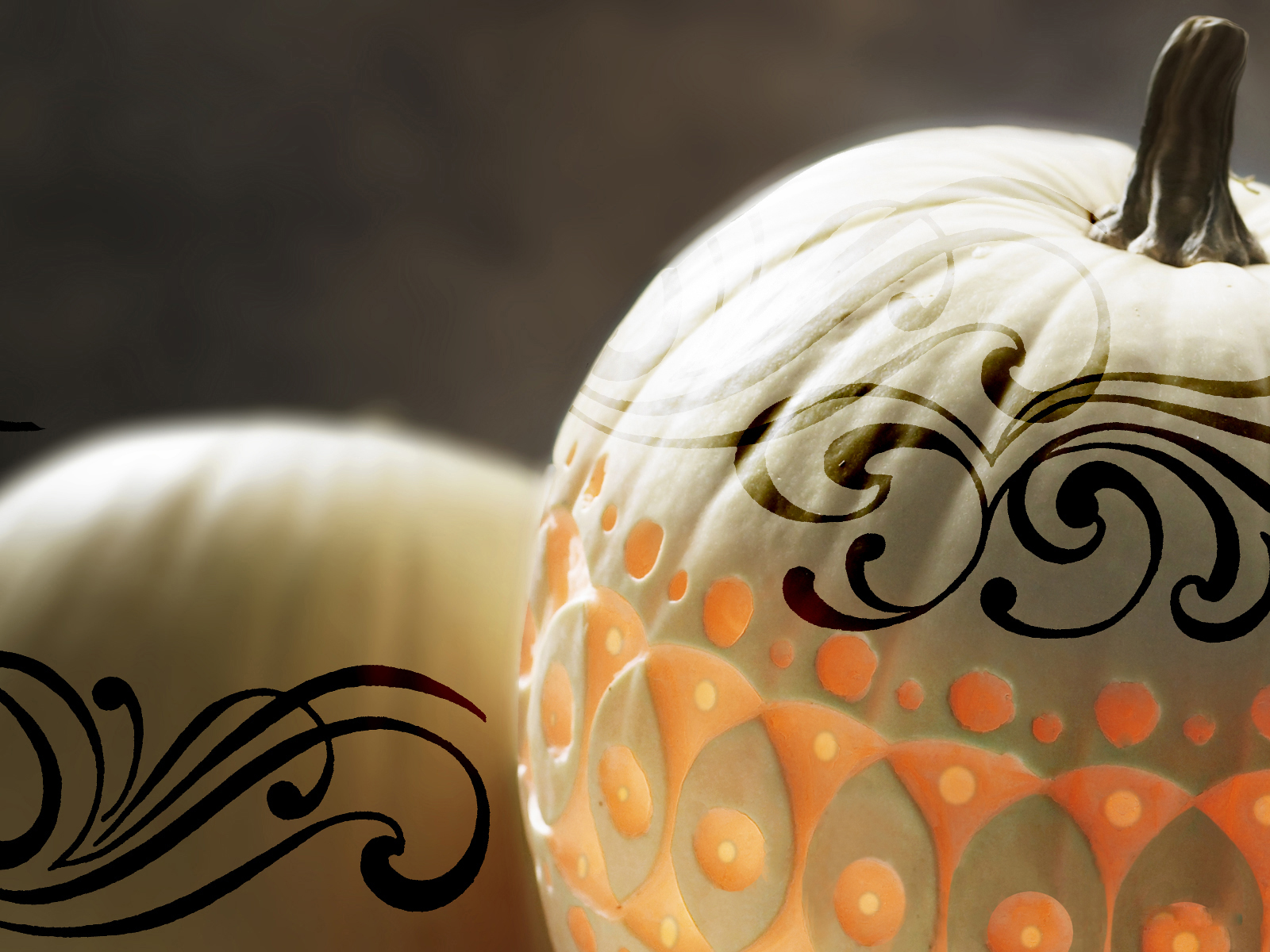 1600x1200 tattoo on pumpkins desktop pc and mac wallpaper White pumpkin carving ideas