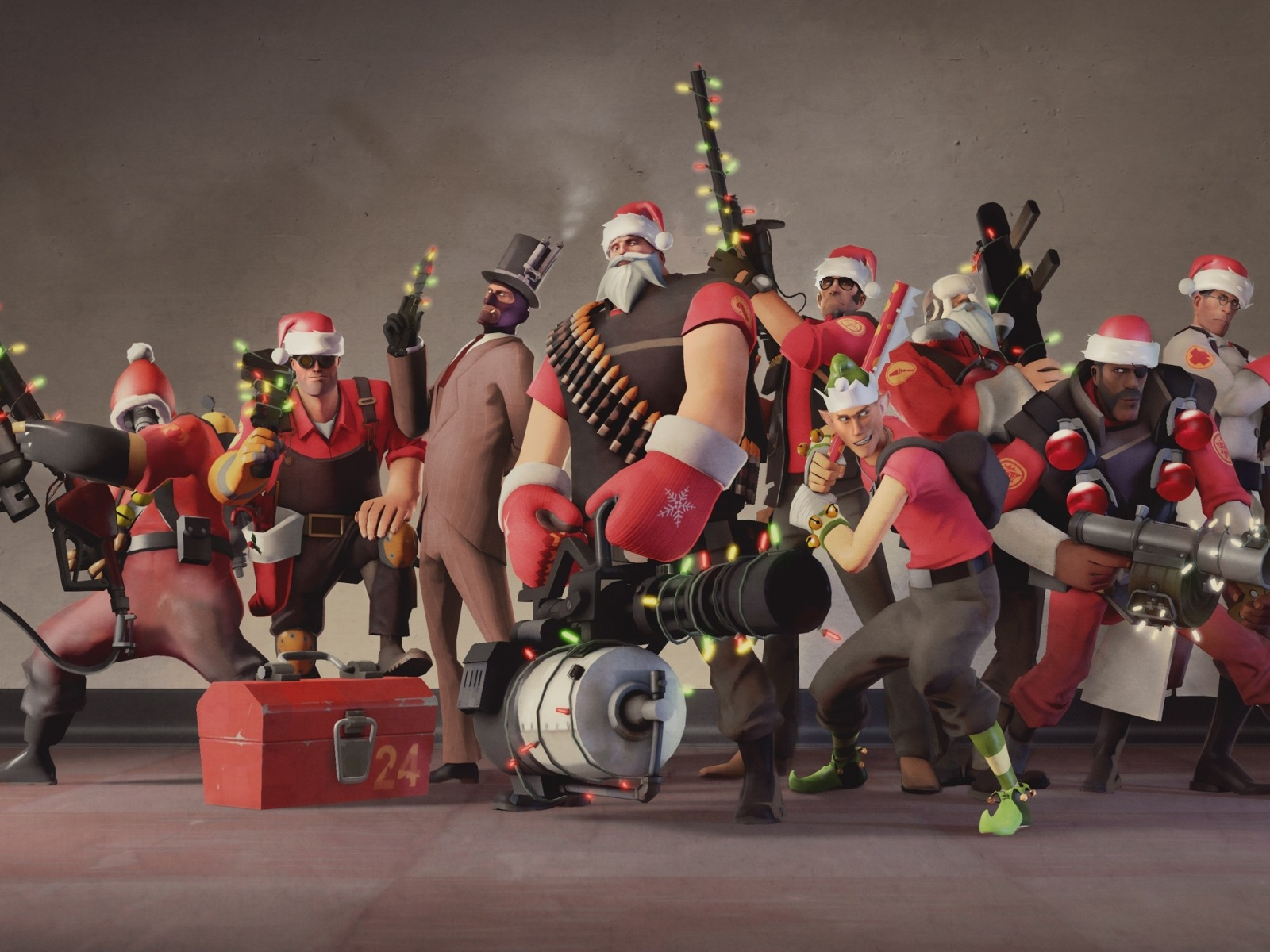 1600x1200 Team Fortress 2 Christmas Desktop PC And Mac
