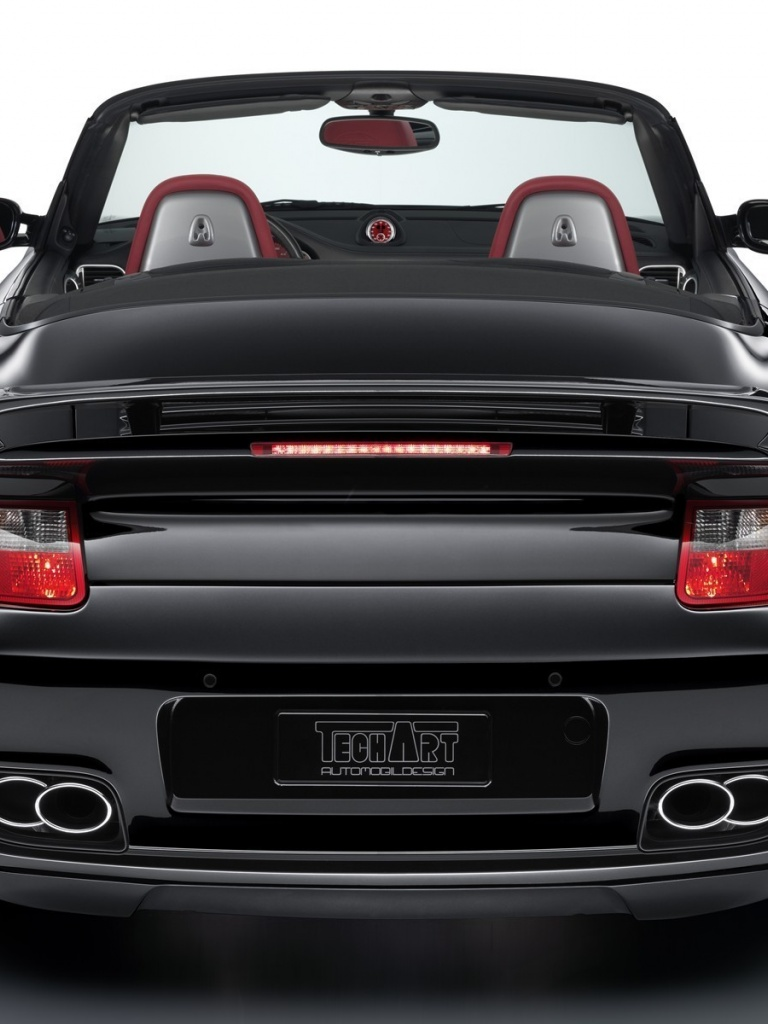 768x1024 TechArt Porsche 997 Turbo Cabriolet, car, cars