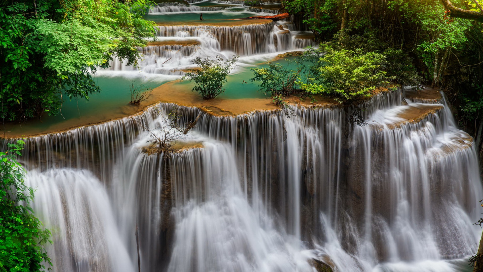 1920x1080 Thailand Waterfall Landscape Desktop Pc And Mac