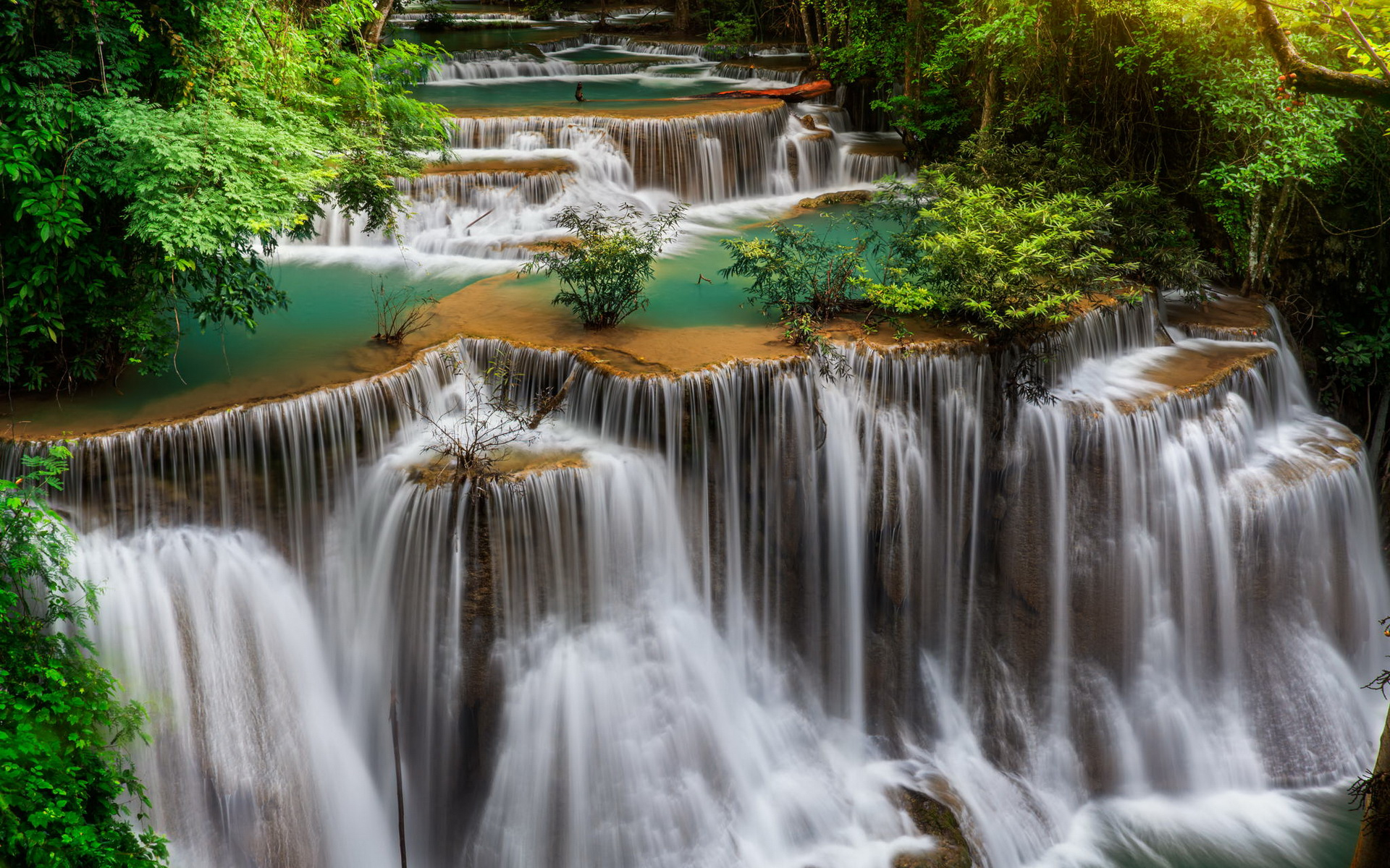 Thailand waterfall landscape wallpapers thailand for Waterfall landscape
