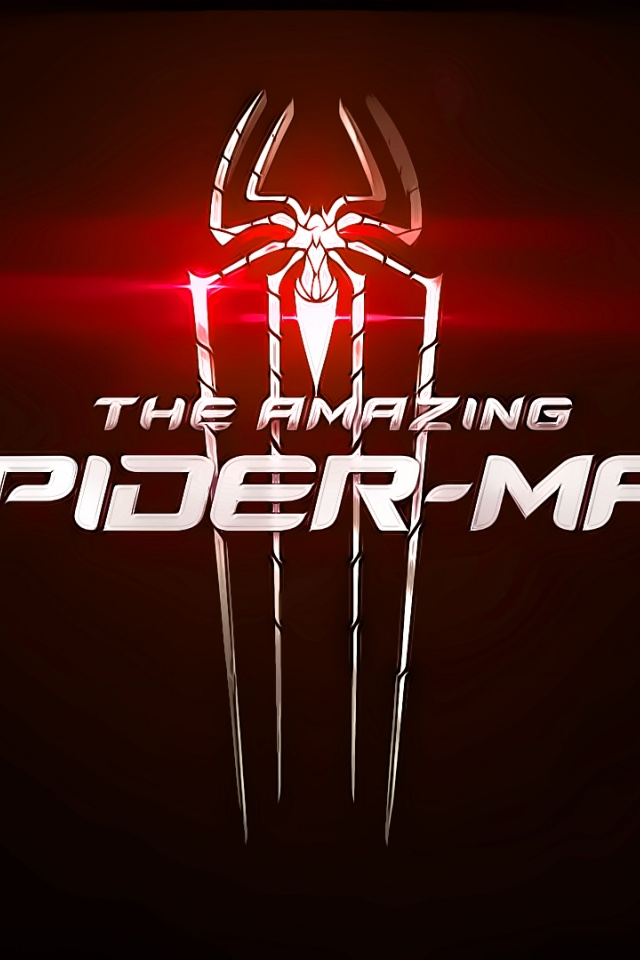 640x960 The Amazing Spider Man Red Logo Iphone 4 Wallpaper
