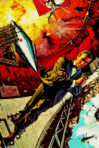 Iphone wallpaper james bond - 320x480 The Art Of James Bond Iphone Wallpaper