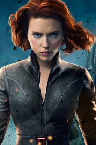 320x480 The Avengers Black Widow Iphone 3g Wallpaper