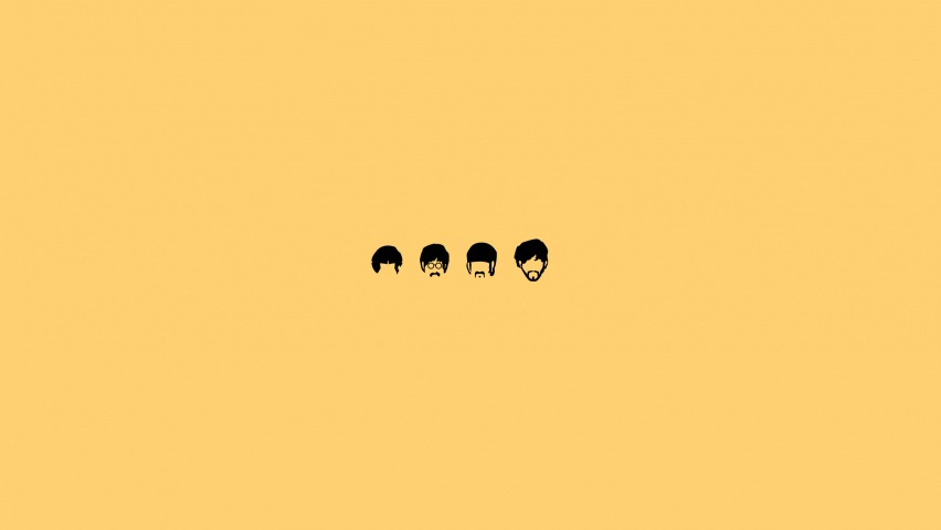 646x220 The Beatles Minimalistic Illustration
