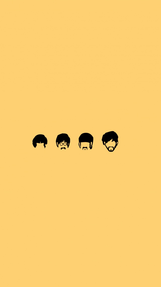 640x1136 The Beatles Minimalistic Illustration Iphone 5 Wallpaper