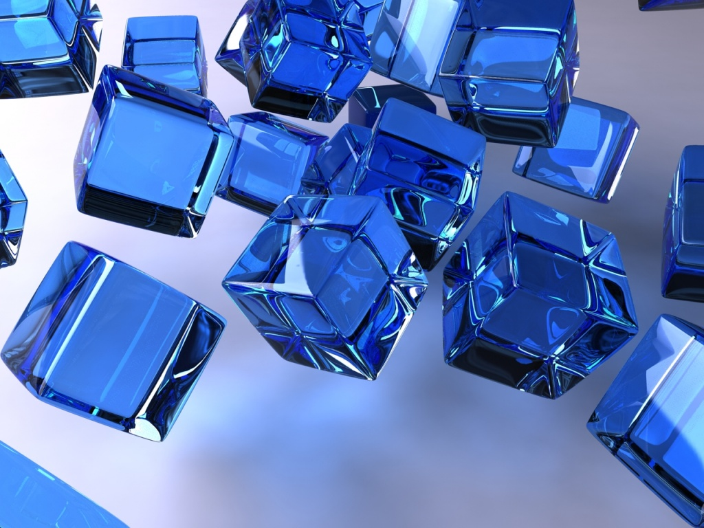 1024x768 the blue cubes desktop pc and mac wallpaper