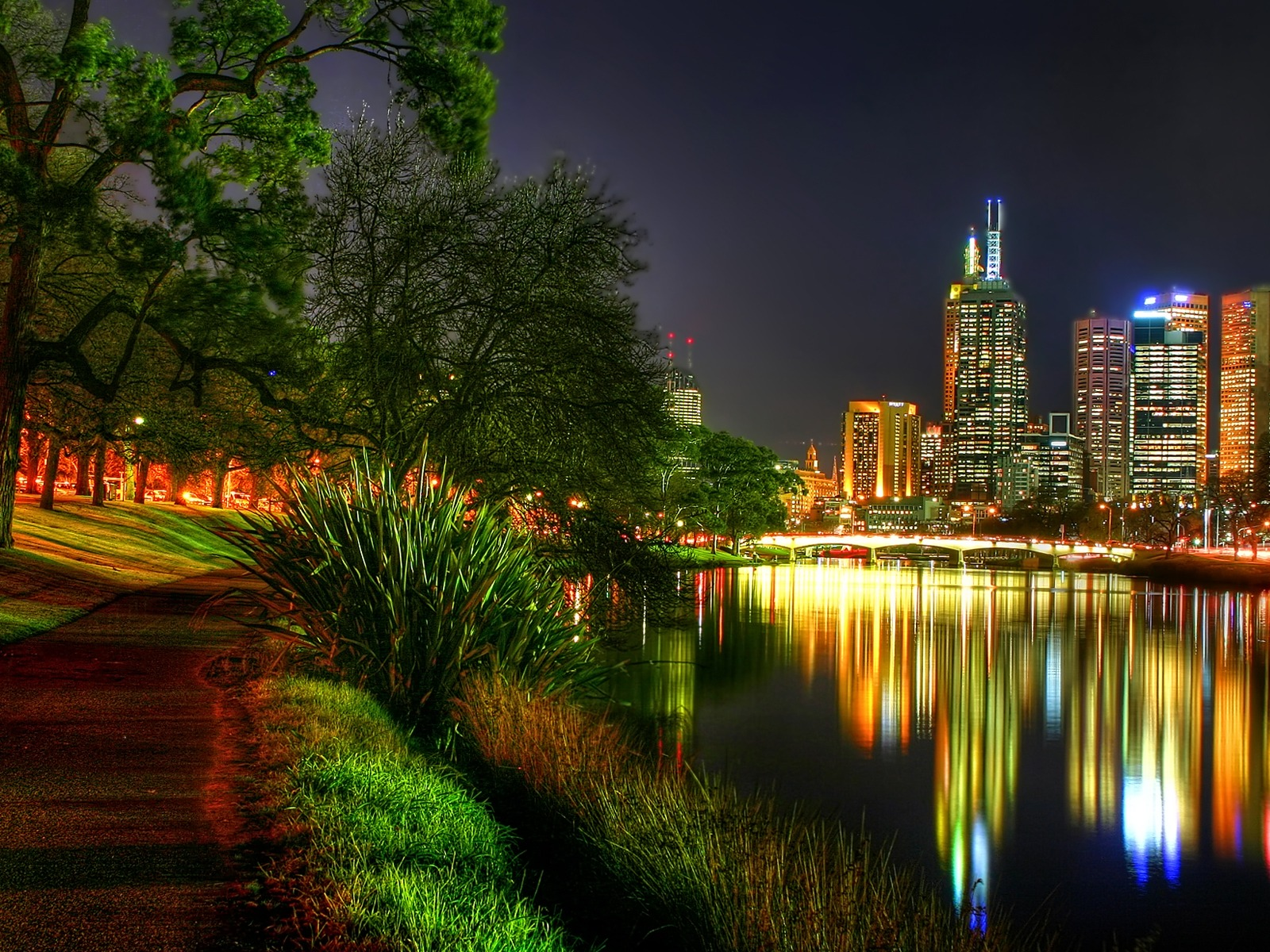 1600x1200 The City Night Lights Desktop Pc And Mac Wallpaper