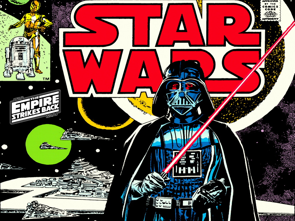 1024x768 The Empire Strikes Back Comic Desktop Pc And Mac Wallpaper