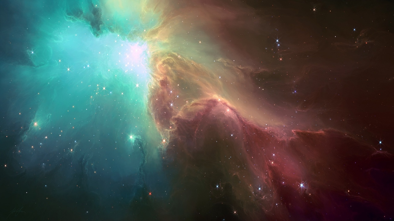1366x768 The Ghost Nebula desktop PC and Mac wallpaper