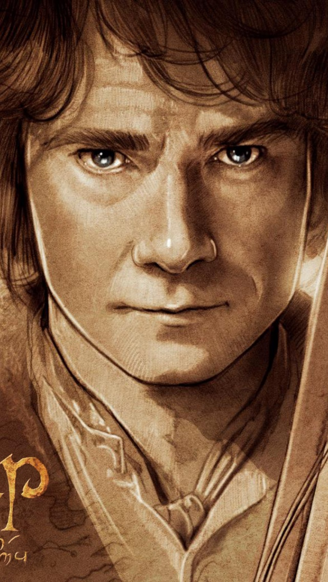 640x1136 The Hobbit Bilbo Baggins Artwork Iphone 5 Wallpaper