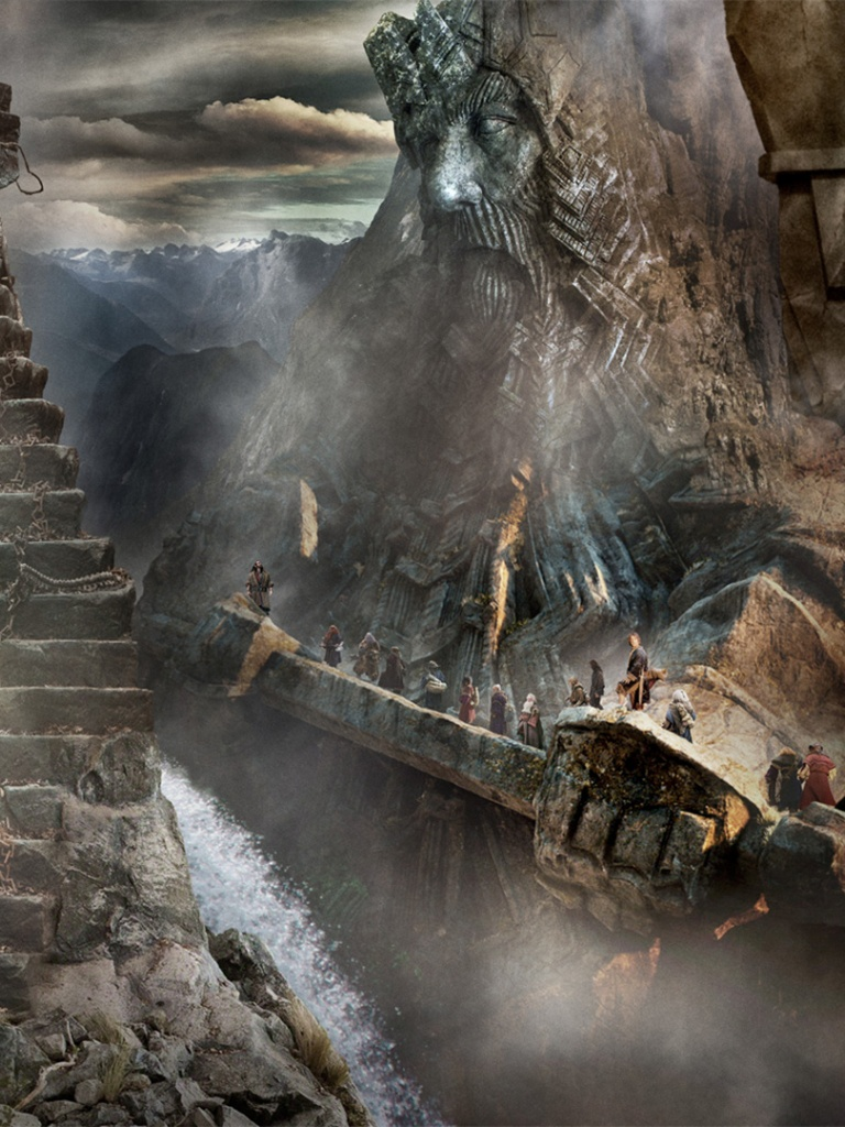 768x1024 the hobbit the desolation of smaug scenery