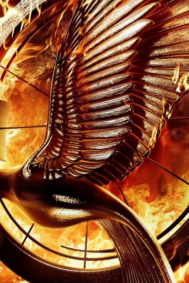 640x960 The Hunger Games Catching Fire Mockingbird Pin Iphone 4